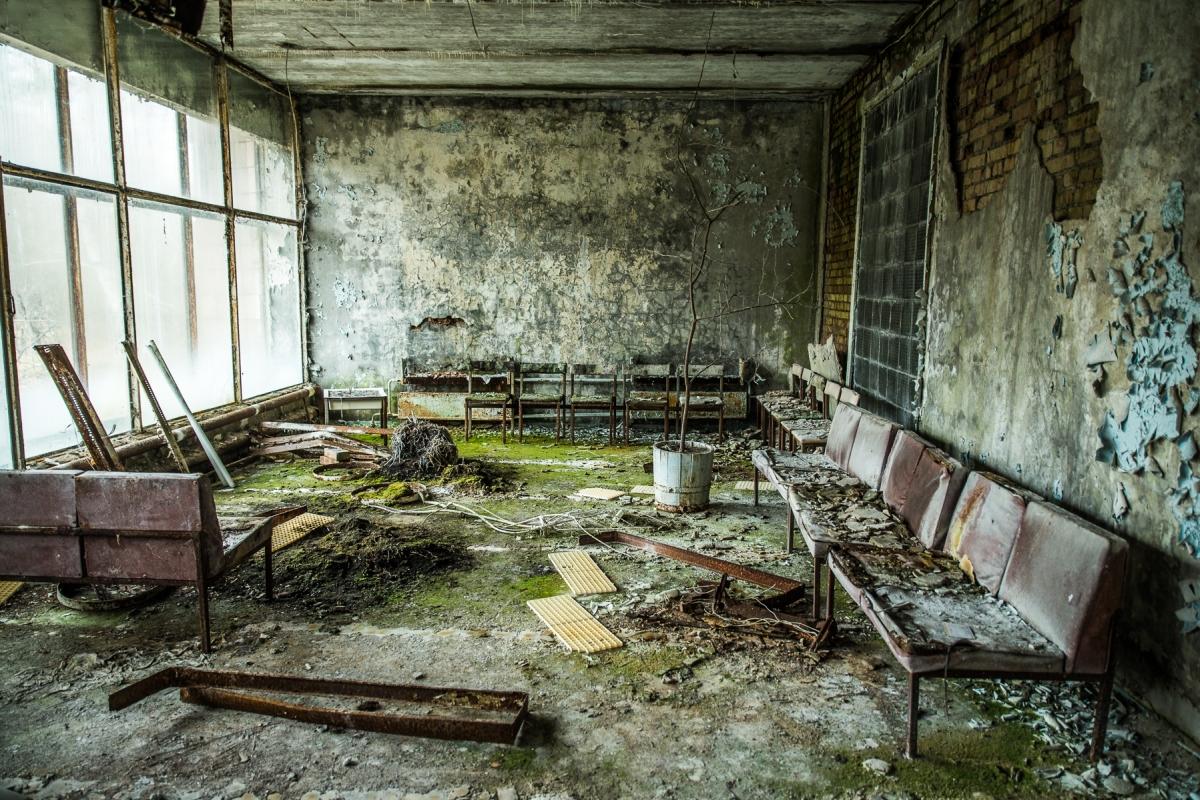 Pripyat Hospital, Chernobyl Exclusion Zone, Ukraine